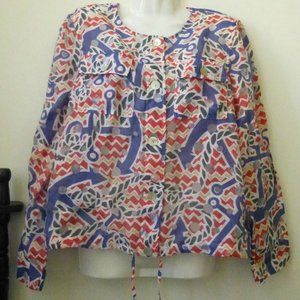 Ruby Rd. Top Blouse Size 8 Long Sleeve Button-Up